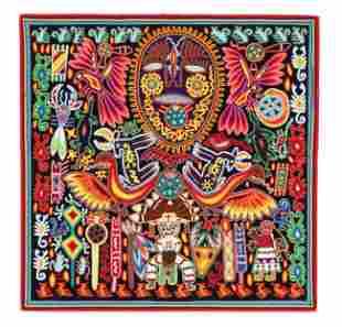 Huichol Yarn Painting (Mexican, 20th c.)
