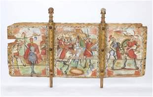 Antique Sicilian Donkey Cart Painted Side Panel