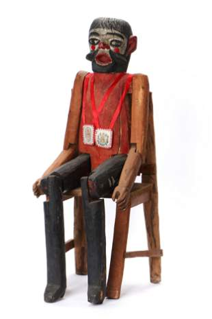 Guatemalan Folk Carved Figure of St. Isadore