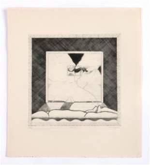 "David Lynch (b. 1946) ""Garden,"" Etching"