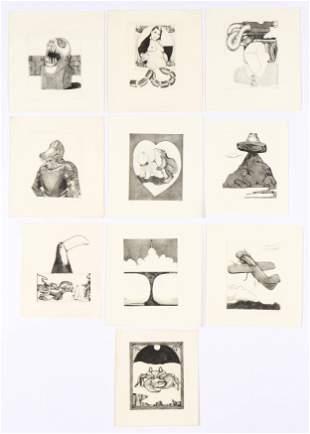 Tom Palmore (American, b. 1945) 10 Etchings