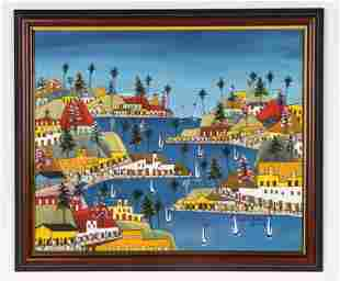 Prefete Duffaut (Haitian, 1923-2012) Landscape