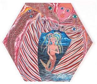 Frantz Zephirin (Haitian, b. 1968) Acrylic painting