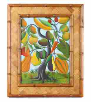 "Fernand Pierre (Haitian, 1919-2002) ""Magic Fruit Tree,"""