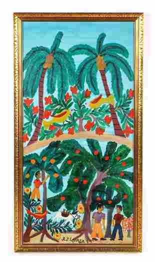 H.J. Laurent (Haitian, 1893-1976) Painting