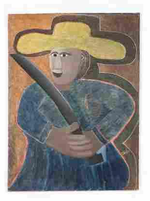 "Ermistral Charles ""Thialy"" (b. 1937) Portrait"