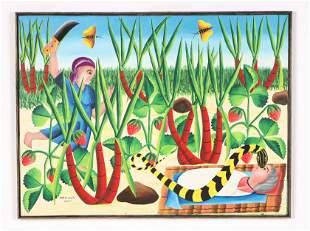 Audes Saul (Haitian/Bombardopolis, b. 1949) Painting