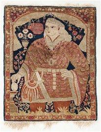 Lavar Kerman Pictorial Rug, Persia, Late 19th C.,