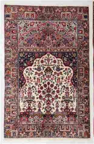 Kerman Prayer Rug, Persia, Early 20th C., 4'9'' x 7'7''