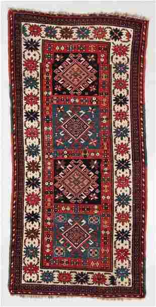 Kazak Rug, Caucasus, Circa 1880, 4'0'' x 8'0''