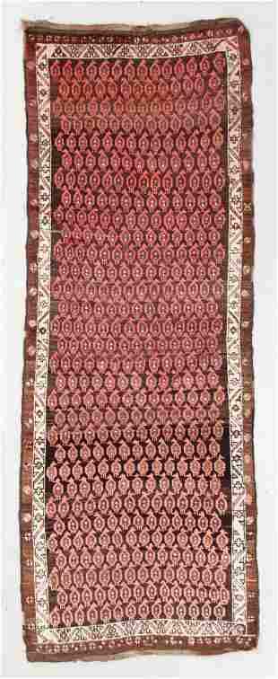 West Persian Kurd Rug, Circa 1900, 3'6'' x 9'7''