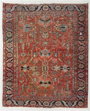 Heriz Rug, Persia, Late 19th C., 9'0'' x 10'9''