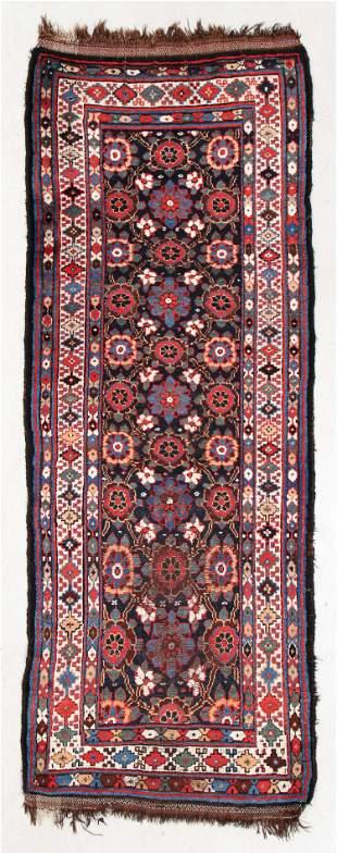 West Persian Kurd Rug, Late 19th C., 3'4'' x 8'8''