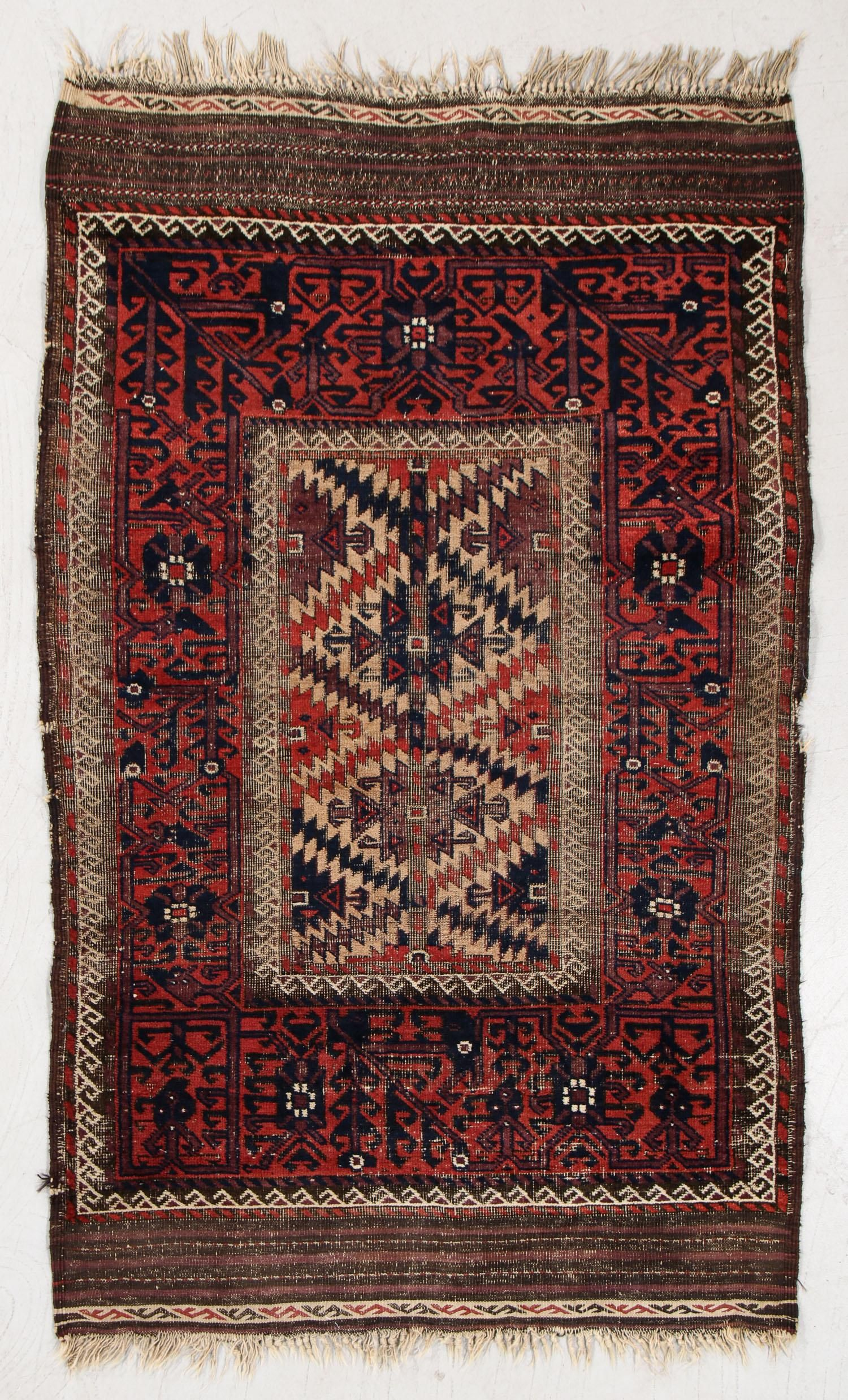 Beluch Rug, Afghanistan, Late 19th C., 3'6'' x 5'8''