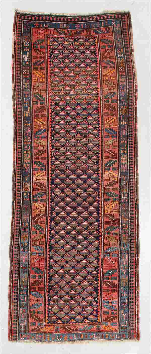 West Persian Kurd Rug, Circa 1900, 3'10'' x 10'5''