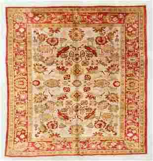 Vintage Angora Oushak Rug, Turkey, 8'5'' x 9'2''