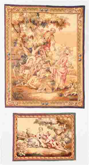 Two 19th C. French Pictorial Tapestries