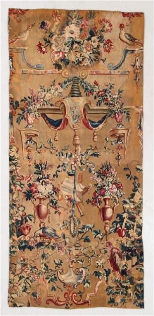 18th C. French Tapestry Panel/Fragment, 2'10'' x 6'4''