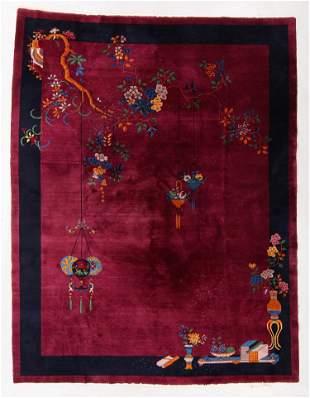 Art Deco Rug, China, Early 20th C., 9'0'' x 11'10''