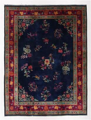 Manchestor Wool Art Deco Rug, China, Early 20th C.,