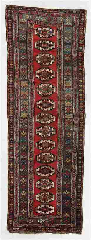 Northwest Persian Kurd Rug, Circa 1880, 4'3'' x 12'7''