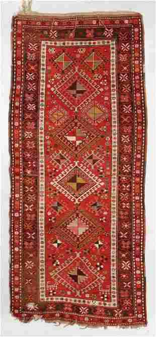 Kazak Rug, Caucasus, Circa 1900, 4'1'' x 9'3''