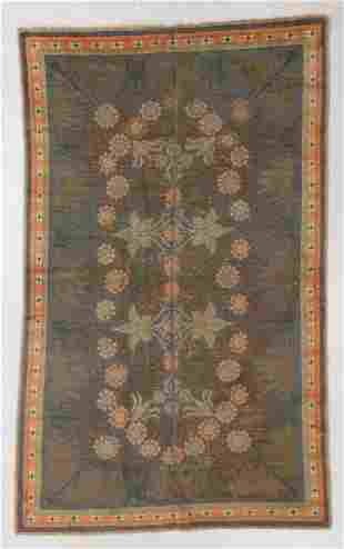 Continental Arts & Crafts Rug, Early 20th C., 5'4'' x