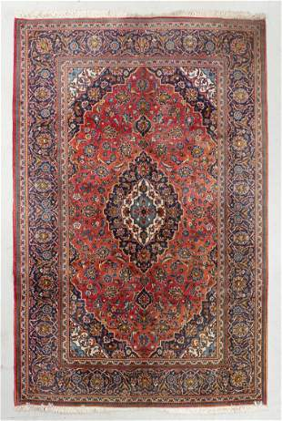 Kashan Rug, Persia, Late 20th C., 6'4'' x 9'10''