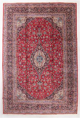 Mansion Size Kashan Rug, Mid/Late 20th C., 13'3'' x