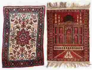 Two Persian & Afghan Small Rugs