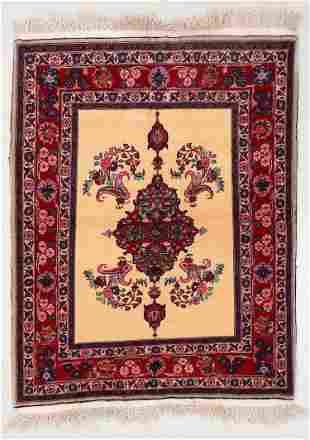 Kashan Rug, Persia, Mid 20th C., 3'10'' x 5'1''