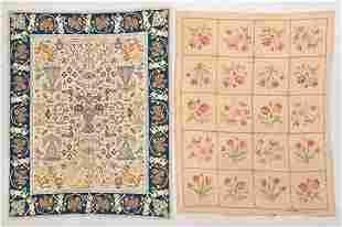 Franco Period Spanish Wool Rug & Needlepoint (2)