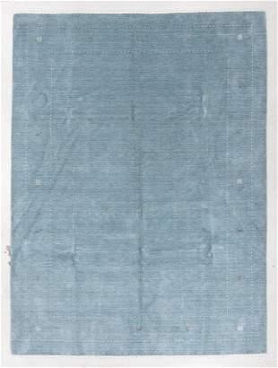 Open Blue Field Gabbeh Rug, Persia, 8'11'' x 12'0''