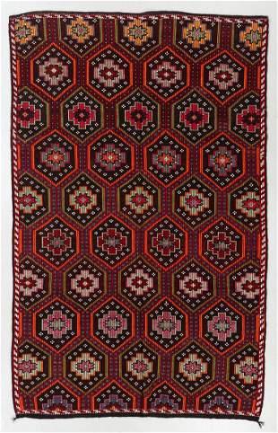 Anatolian Djidjim/Kilim, Turkey, Mid 20th C., 6'9'' x