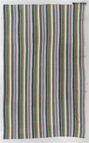 Striped Anatolian Kilim, Turkey, Mid 20th C., 7'11'' x