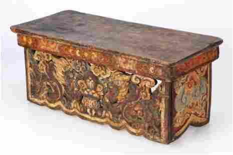 Antique Tibetan Folding Scholar's Desk