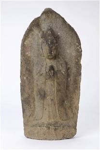 17th C. Carved Stone Japanese Quanyin