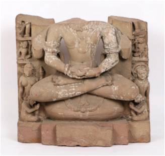 Ancient Indian Sandstone Sculpture, 11th Century CE