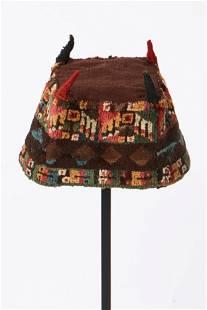 Wari Four-Cornered Pile Hat, Peru, 700-1000 CE