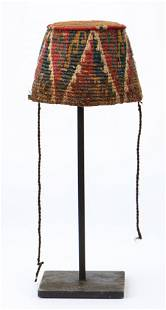 Pre-Columbian Inca Knitted Conical Hat, North Coast of
