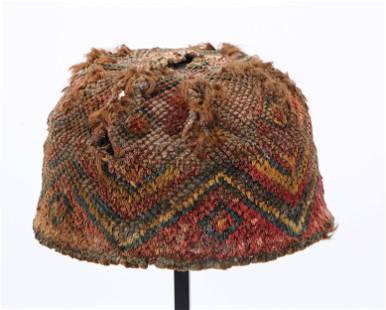 Rare Pre-Columbian Inca Pile Hat, 1335-1550 CE