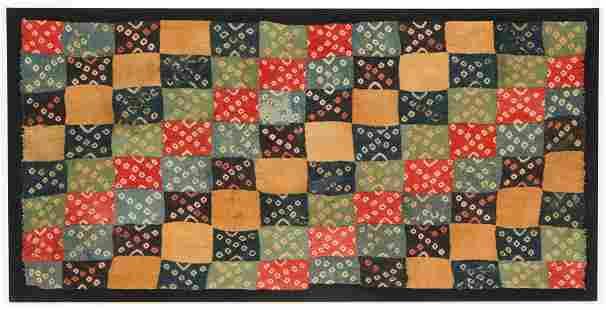 Fine Pre-Columbian Wari Tie-Dye Mantle Section, Peru