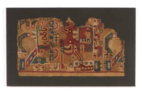 Pre-Columbian Wari Textile Fragment, Peru