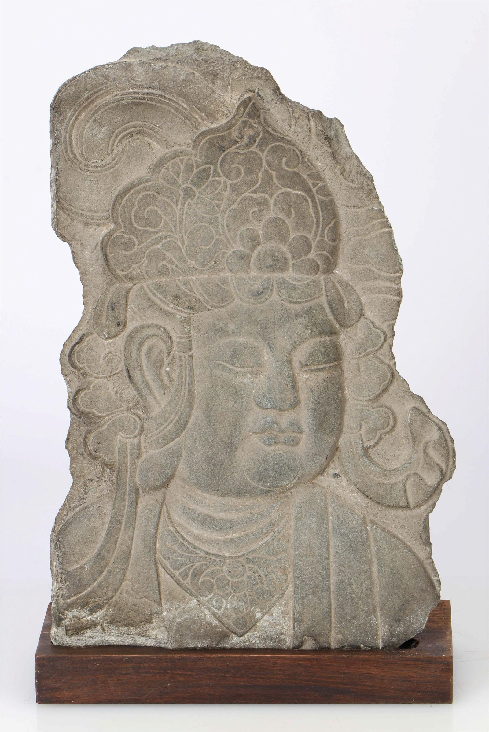 Chinese Ming Stone Architectural Relief Fragment,