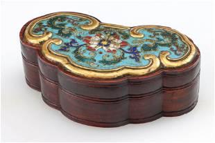 Fine Chinese Cloisonne Enamel Box, 18th Century