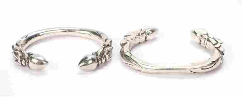 Two Very Heavy Tibetan Silver Bracelets