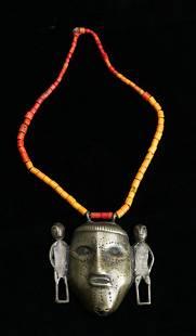 Antique Naga Bronze Necklace with Original Beads