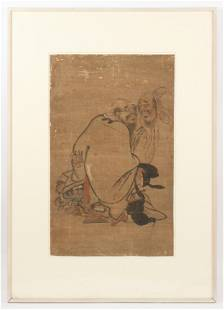 Antique Chinese (19th c.) Painting of Zhong Kui