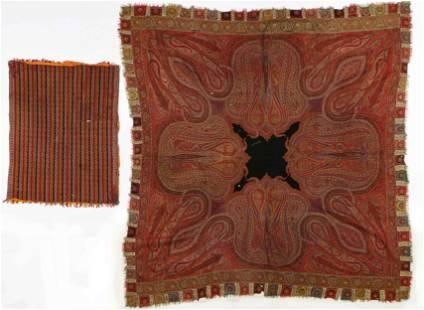 Two 19th C. Kashmir Textiles, India