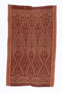 Antique Ceremonial Pua Kombu Ikat Textile, Iban, Borneo